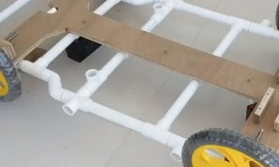 Su Borusu ve Kartondan Motorlu Araç Yapımı