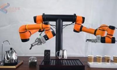 Çift Kollu Çay Servisi Yapan Robot