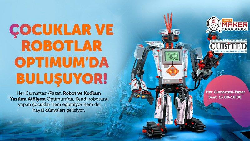 Maker Teknoloji Her Cumartesi ve Pazar Adana Optimum AVM de